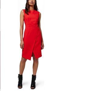 Topshop Faux Wrap Midi Dress
